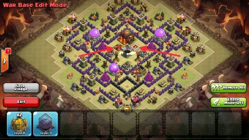 colocacion heroes clash of clans