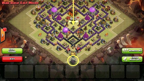 colocar tropas en clash of clans