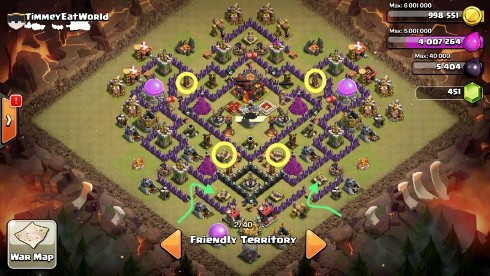 tunear la base de guerra de clash of clans