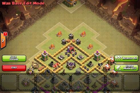 war base edit mode clash of clans