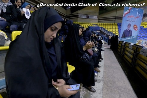 irán prohibe clash of clans