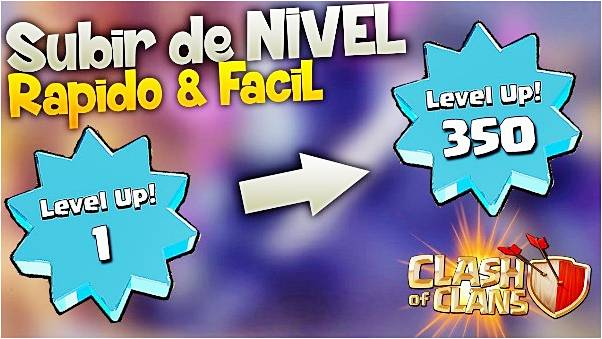 como-subir-de-nivel-en-clash-of-clans