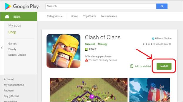 install-clash-of-clans-android